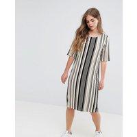 PiecesPieces Damara Print Jersey Dress - Multi stripe