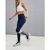 Leggings en azul con diseño colour block de Nike Training