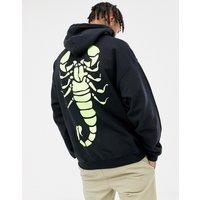 HNR LDN scorpio back print hoodie - Black