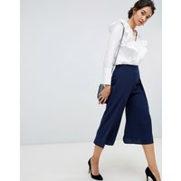 Oasis Wide Leg Culottes In Navy - Navy