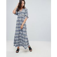 b.Youngb.Young Printed Kimono Maxi Dress - Copenhagen night pri