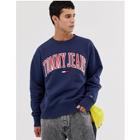 Tommy Jeans collegiate capsule sweatshirt in navy - Black iris