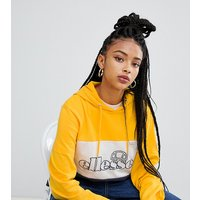 Ellesse Oversized Hoodie With Front Logo In Retro Colour Block - Yellow