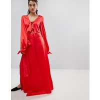Stylemafia Split Maxi Skirt Co-Ord - Red
