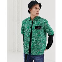 Diesel S-Fri-MP bandana print short sleeve shirt in green - Green