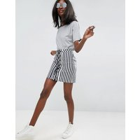 ASOSASOS Lace Up Mini Skirt in Stripe - Navy / white