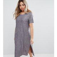 JunaroseJunarose Short Sleeve Jersey Dress With Side Splits - Blue
