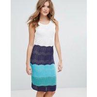 LavandLavand Colourblock Knitted Midi Dress - U