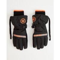 Superdry Snow ultimate service gloves in black - Black/orange