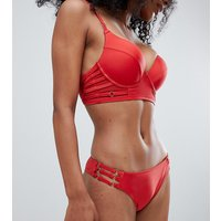 Wolf & Whistle Strappy Bikini Bottom - Burnt red