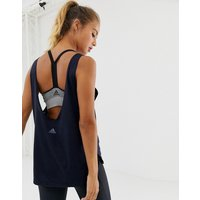 Adidas Prime Low Back Training Vest In Navy - Blue