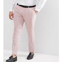 Pantalones de vestir muy ajustados en lino rosa de ASOS PLUS Wedding