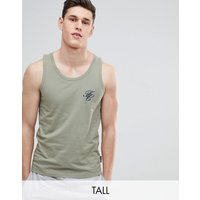 French Connection Tall Script Vest - Lgt Khaki/marine