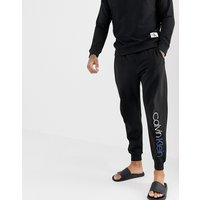 Calvin Klein Bold Accents Joggers With Cuffed Ankle - Black