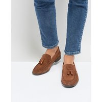 Silver Street Tassel Loafers In Tan Suede - Tan