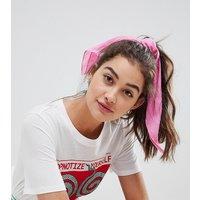 Pañuelo para el pelo de efecto lino en rosa de My Accessories