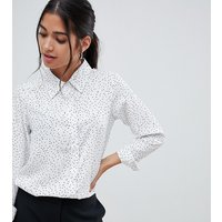 Brave Soul Petite aleta shirt in mini heart print - Cream