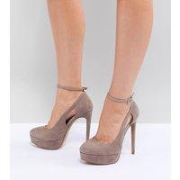 Zapatos de tacón de ancho especial con plataforma Partyline de ASOS DESIGN