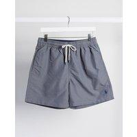 Shorts de baño con logo de jugador en gris oscuro Traveller de Polo Ralph Lauren