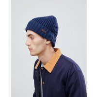 Barbour Langley Beanie Hat In Navy - Navy