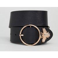 Cinturón para vaqueros para la cintura y la cadera con extremo con insecto de ASOS DESIGN