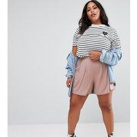 Falda pantalón con plisado de ASOS CURVE