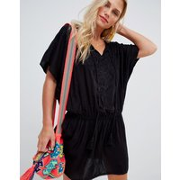 Accessorize Mono Beach Kaftan Black - Black