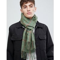 Barbour New Market Plaid Scarf In Green - Green