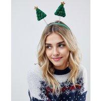 ASOS DESIGN Christmas tree bopper headband - Multi
