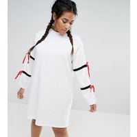One One ThreeOne One Three Split Sleeve Sporty Shift Dress - White