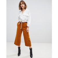 Esprit Cord Culotte Trousers In Mustard - Yellow