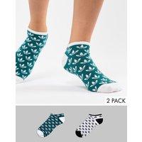 Pack de 2 pares de calcetines con estampado del logo de adidas Originals