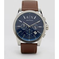 Armani Exchange Ax2501 Leather Strap Watch - Brown