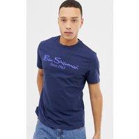 Ben Sherman Large Logo T-Shirt - Navy