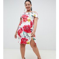 Coast Plus Rose Bloom Print Pencil Dress