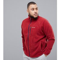 Columbia Big & Tall Fast Trek II Full Zip Fleece in Red - Red