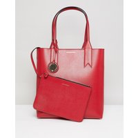 Emporio Armani Shopper Bag With Mini Clutch - 88158 Red