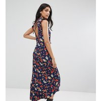 ASOS TallASOS TALL Maxi Tea Dress with Cut Out Back Detail in Grunge Floral Print - Multi