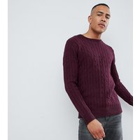 French Connection TALL 100% Cotton Logo Cable Knit Jumper - Chateaux