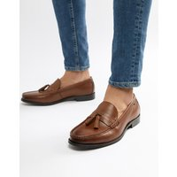 Ben Sherman Loco Tassel Loafers In Tan Leather - Tan