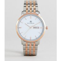 Accurist 7241 Date Dial Bracelet Watch In Mixed Metal - Multicolor