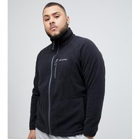 Columbia Big & Tall Fast Trek II Full Zip Fleece in Black - Black