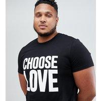 Camiseta negra en algodón orgánico de Help Refugees Choose Love