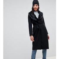 Brave Soul Tall ada long coat - Black