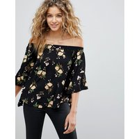 AX Paris Floral Top - Black