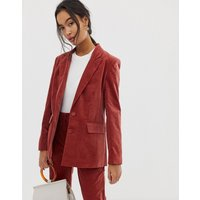 ASOS DESIGN suit blazer in velvet - Rust