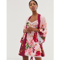 B By Ted Baker Serenity Satin Kimono In Pink