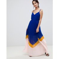 ASOS DESIGN colour block pleated maxi dress - Multi