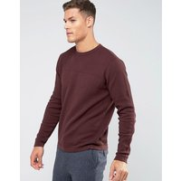 Troy Mixed Yarn Textured Knitted Jumper - Red