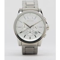 Armani Exchange Ax2058 Stainless Steel Watch In Silver - Silver